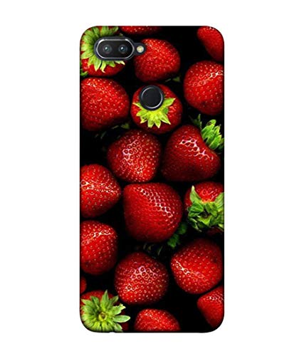 S SMARTY Strawberry Printed Hard Case Mobile Back Cover for Realme 2 Pro