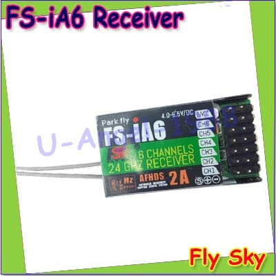 Generic + 1pcs 100% Flysky FS-iA6 6 Channel Receiver AFHDS 2A 2.4G Radio System Replacement for Flysky FS-I10