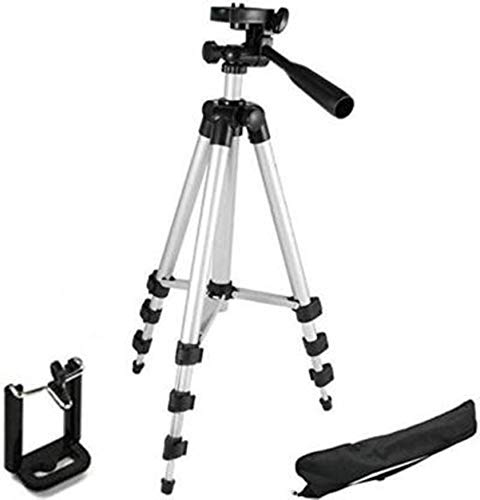 NNPRO Tripod-3110 Portable Adjustable Aluminum Lightweight Camera Stand with Three-Dimensional Head Tripod(Silver, Black, Supports Up to 3000 g)( TRPD-32 )