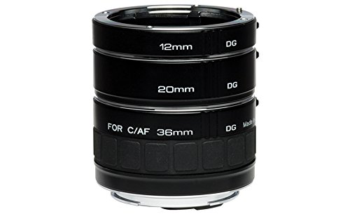Kenko Auto Extension Tube Set DG 12mm 20mm and 36mm Tubes for Nikon AF Digital and Film Cameras - AEXRUBEDGN