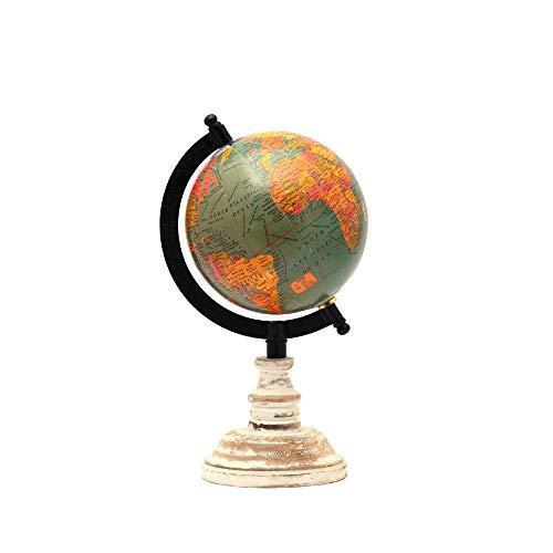 CASADECOR Fermi Zone Desktop Sea World Globe with Wooden Stand for Kids (Black, 5 Inch)