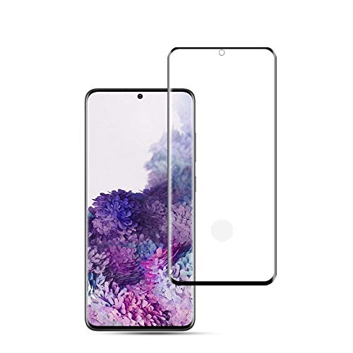 LIDGRHJTHTGRSS Mobile Phone Accessories Screen Protectors for Galaxy S20+ 0.33mm 9H 3D Curved Full Screen Tempered Glass Film, Fingerprint Unlock Support