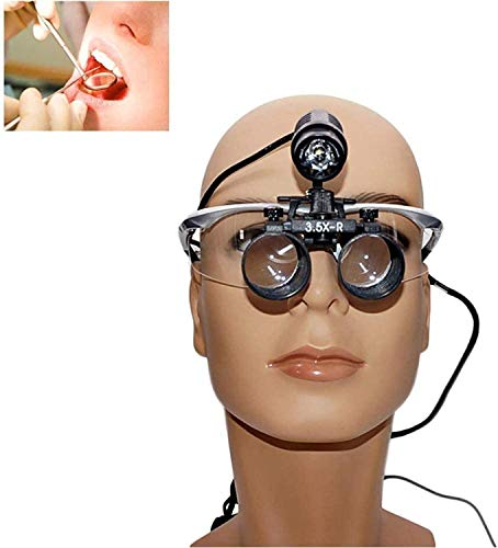 N-brand Gift Portable Surgical Binocular Loupes Dental Medical Magnifier 2.5X 3.5X 420Mm Optical LED Headlight Apply to Medical Surgical Cosmetic Plastic SurgeryJoinBuy.India
