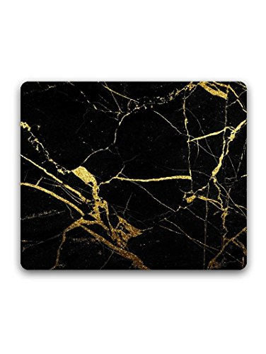 Madanyu Designer Mousepad Non-Slip Rubber Base for Gamers - HD Print - Black Marble