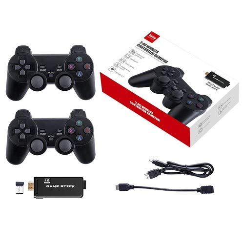 ubox Wireless USB Game Stick Built in 3000 Retro Games withDual Controller Gamepad Hightlight