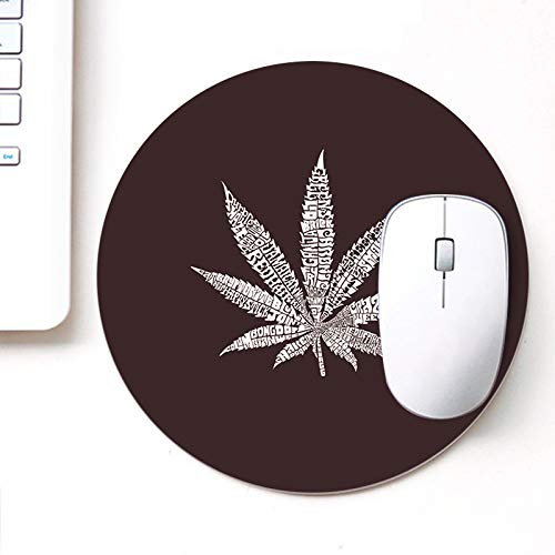 DASM United UVDesigner Printed Round Mouse Pad for Laptop n Computer | Weed Brown | Mousepad for Gamers | Gaming Mousepad