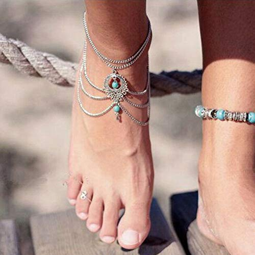 ELECTROPRIME Foot Chain Bracelet Rhinestone Cuff Bangle Ladies Charm Jewelry Durable Great