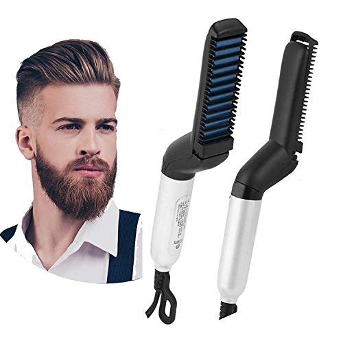 Anax™ Men Quick Beard Straightener Hair Comb Multifunctional Hair Curler Show Cap Tool