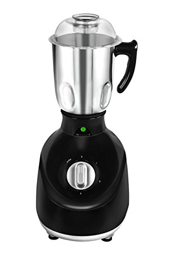 Maharaja Whiteline Plastic White Line Mg  Easy Lock King 750-Watt Mixer Grinder, Standard, Black and Silver