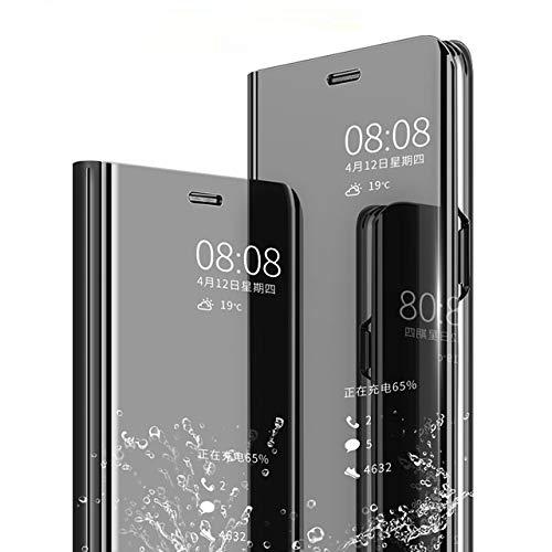 AE Mobile Accessories FLIP Case for XIAOMI REDMI 6 PRO Mirror Flip Cover Semi Clear View Smart Cover Phone S-View Clear, Kickstand FLIP Case Black (Sensor flip is not Working)