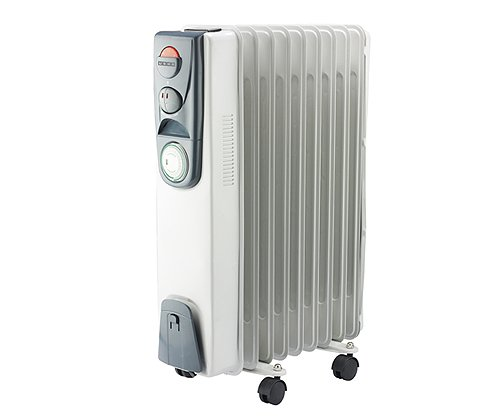 Usha Oil Filled Radiator (3209) 2000-Watt with Over Heating Protection (White)