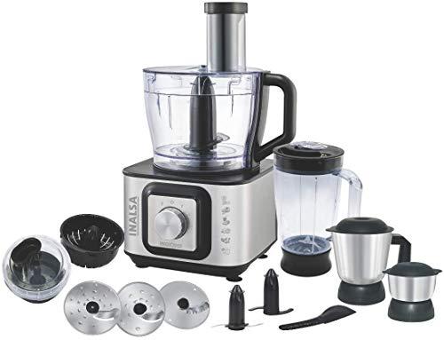 Inalsa Kitchen Master 1000-Watt Food Processor (Black/Silver)