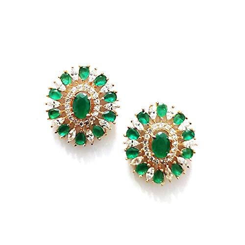 Jewels Corner Celebration Beautiful GREEN AD EARRING