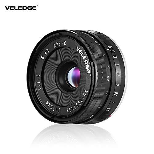 Honelife 32mm F/1.6 Large Aperture Manual Focus Lens APS-C for Sony E-Mount Digital Mirrorless Cameras NEX 3/ NEX 3N/ NEX 5/ NEX 5T/ NEX 5R/ NEX 6/ NEX 7/ A5000/ A5100/ A6000/ A6100/ A6300/ A6500