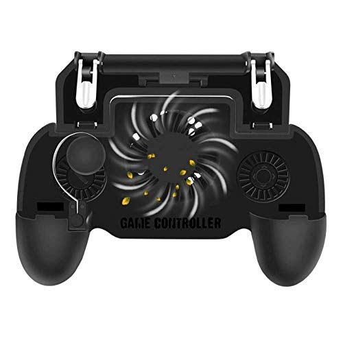 KimTok Garena Free Fire/COD Mobile/PUBG /etc Triggers for Mobile Game, Controller Joystick Gamepad with Fan,L1R1 Sensitive Button for Shooting/Cooling/Charging