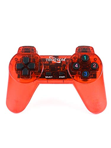 Fatimah's Couture TECHCOM 839 USB Wired Controller Gamepad/Joystick with LED Indicators for PC Laptop and with CD Driver