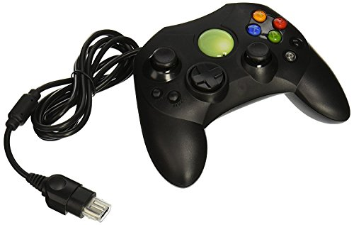 Old Skool Xbox Controller S-Type Wired Game Pad - Black