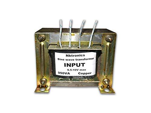 Nktronics 900va 600watt 12 Volt sinewave Inverter Transformer with Charging Function for All sinewave Inverter Board (Aluminium)
