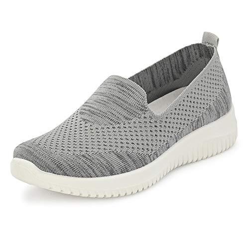Flavia Women's Grey Running Shoes-5 UK (37 EU) (6 US) (FKT/ST-1904/GRY)