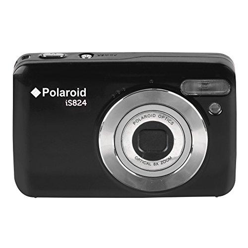 "Polaroid 16 Digital Camera with 2.4"" LCD, Black (IS824-BLK)"