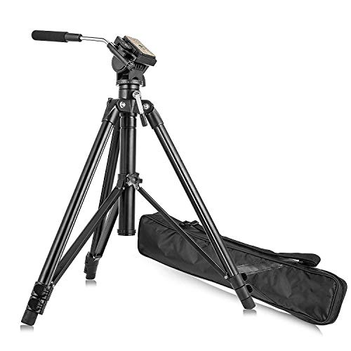 Zomei Video Tripod VT555 with Professional 360øDegree Fluid Damping Head and Fit for Parnoramic Shooting,Siutable for DSLR Camcorder Video,with A Portable Bag(Black)