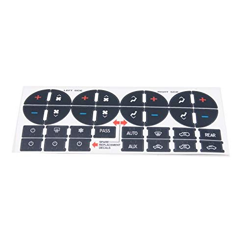 Anself AC Dash Button Sticker Repair Kit AC Panel Decals & Radio Button Repair Decal Set Replacement for GMC Chevrolet 2007-2013