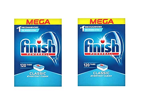 Finish PowerBall Classic 120 Dishwasher Tablets Mega Pack Of 2