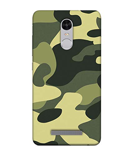 S SMARTY Designer Printed Plastic Mobile Back Case Cover for Redmi Note 3 (Army)