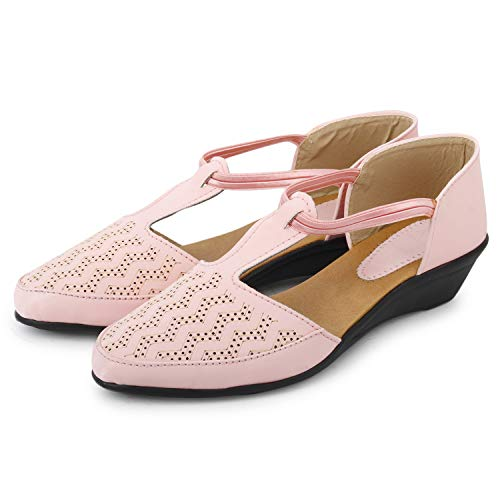 FASHIMO Women's Bellies 719-Pink-40