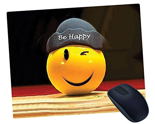 Mugshug Be Happy Mousepad