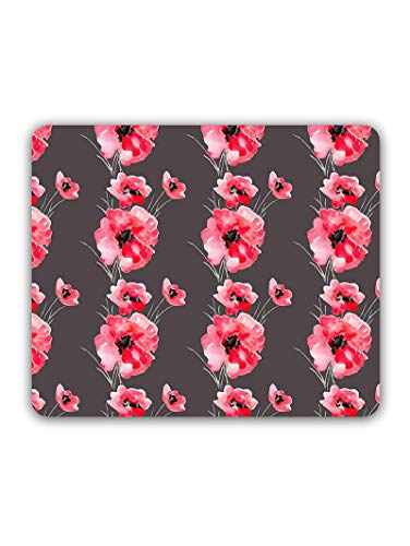 Madanyu Designer Mousepad Non-Slip Rubber Base for Gamers - HD Print - Red Poppy Flowers