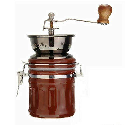 ELECTROPRIME Retro Stainless Steel Ceramic Manual Coffee Bean Grinder Nut Mill Hand Grin J3E8
