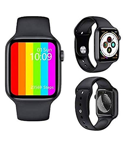 New Full Display W26 Smartwatch 1.75inch Infinite Screen 44mm Watch Series 6 Smart Watch Bluetooth Call ECG Temperature Black Straps