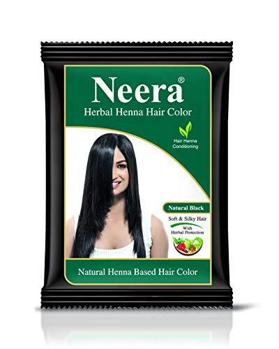 GREEN Neera Herbal Natural Henna Hair Color 15G Pack(Pack of 10) (Natural Black)