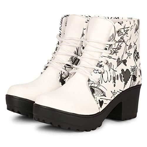 FASHIMO Women's Boots PN9-white-37