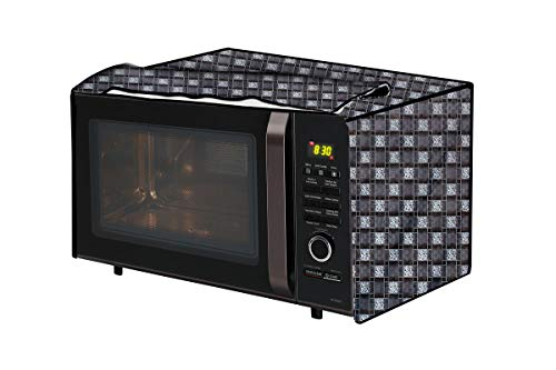 The Furnishing Tree Microwave Oven Cover for IFB 23 L Convection 23BC4 Basketweave Pattern Grey