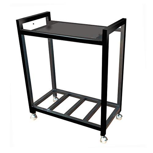 A-One Steels Metal Inverter Trolley with 4 Wheels (Black)
