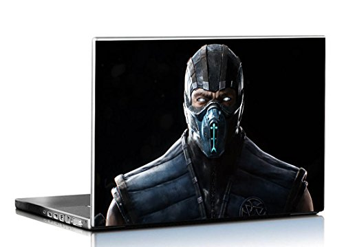 PIXELARTZ Laptop Skin - Mortal Kombat X Sub Zero - HD Quality-17.5 Inches - Multi-Colour
