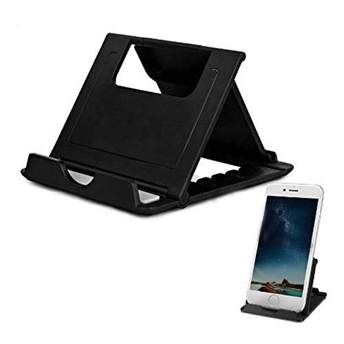 Alakazam Adjustable Mobile Phone Foldable Holder Stand Dock Mount for All Smartphones, Tabs, Kindle, iPad (Black)