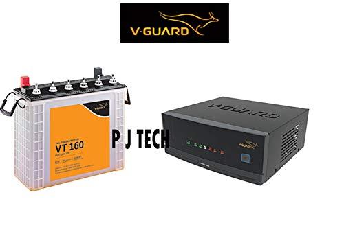 V-Guard P.J. TECH Prime 1050 Inverter + VT 160 152AH Tall Tubular Battery