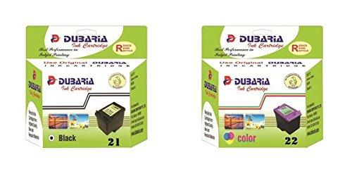 Dubaria Compatible Ink Cartridges Combo Set 21 Black & 22 Color