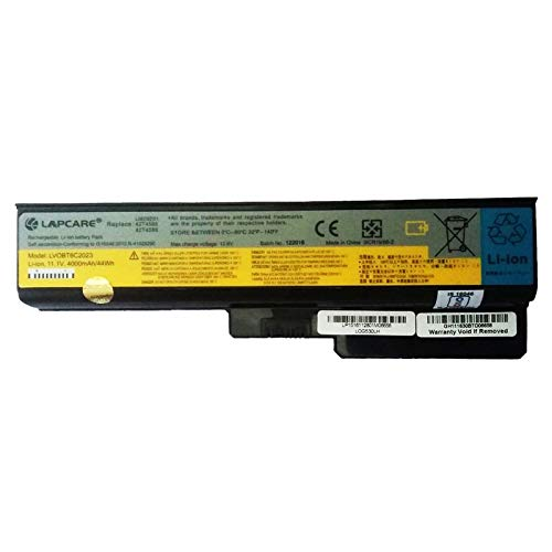 LAPCARE 11.1V 4000mAh 6 Cell BIS Certified Compatible Lithium-ion Laptop Battery for Lenovo 3000 G430 G530 and G530M Models