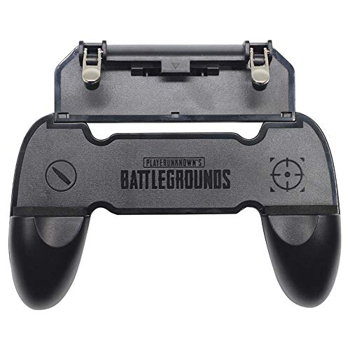 I-Birds Enterprises® Universal PUBG W10 Gamepad Handle Grip Wireless Controller Joystick with Metal Buttons Trigger Key for Android iOS Smart Phone Gaming (Black)