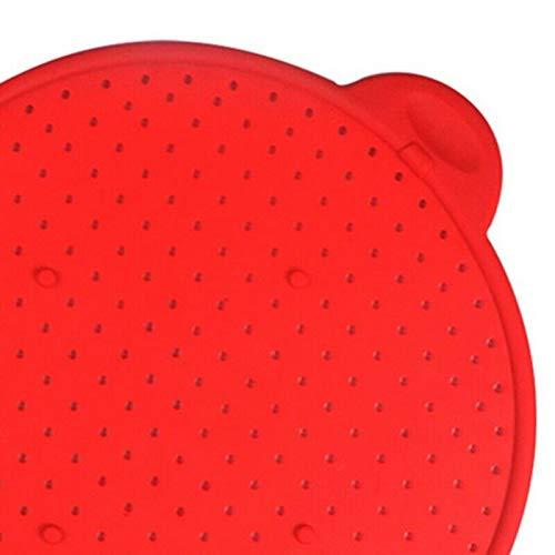 ELECTROPRIME Splash Screen Splash Protection Kitchen Filter Tripod Lid Lid Silicone Lid Q6L7