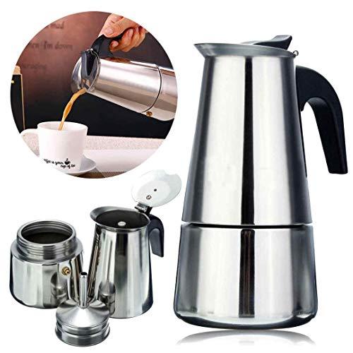 PAVITR SHOP Espresso Coffee Maker/Percolator Coffee Maker, Silver