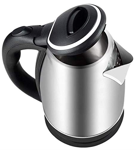 Majron 2.0 L 1500W Automatic Stainless Steel Cordless Easy to Use European Model Mode Water Kettle (Silver and Black, 203x165x230 mm)