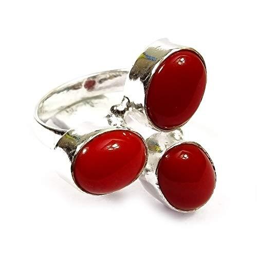 Nimbark Carnelian Charm Gemstone Ethnic Handmade Jewelry Ring 7''