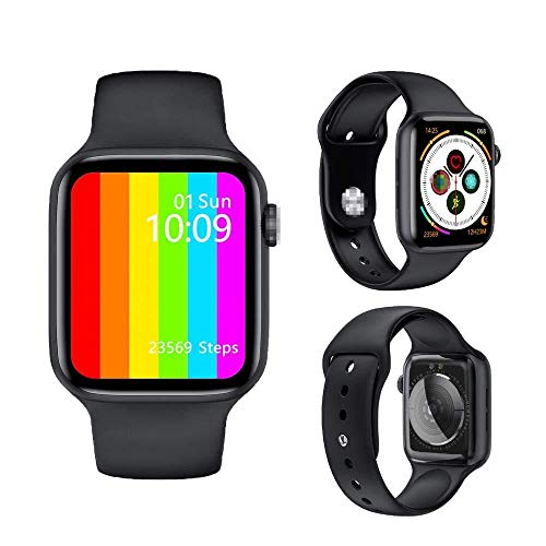 W26+ Sports 44mm*38mm*10.7mm Series 6 Smartwatch Bluetooth Call ECG (Black Strap, Free Size)
