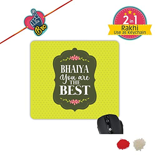TheYaYaCafe Yaya Cafe Bhaidooj Birthday Gift for Brother, Bhaiya You are The Best Printed Mouse Pad