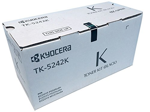 Kyocera Kyocera 1T02R70US0 Model TK-5242K Black Toner Cartridge for M5526cdw/ P5026cdw, Genuine Kyocera, Up to 4000 Pages